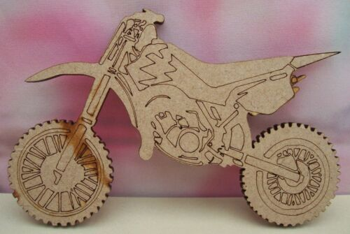 MDF Motor Bikes Craft Blank Packs of 3 Varied sizes