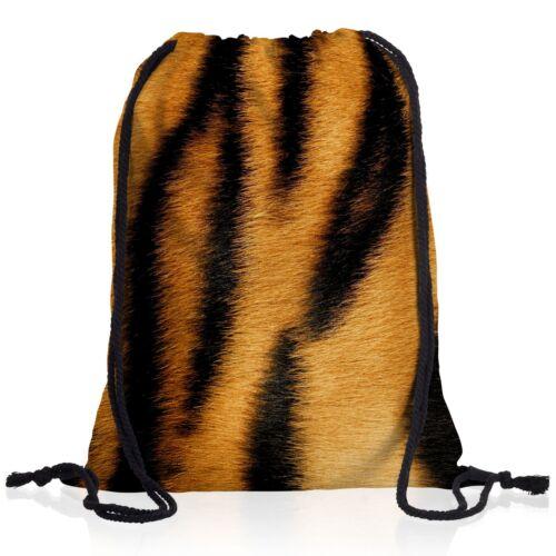 Tigerfell Muster Rucksack Sportbeutel Turnbeutel Gym Bag Beutel Tiger Tier Fell