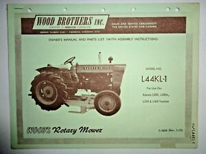 woods l44kl 1 mower operators parts manual fits kubota l200 l210 rh ebay com kubota l200 manual kubota l200 manual