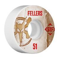 Bones Stf Pro Fellers Vintage V2 White Skateboard Wheels 51mm - (set Of 4)
