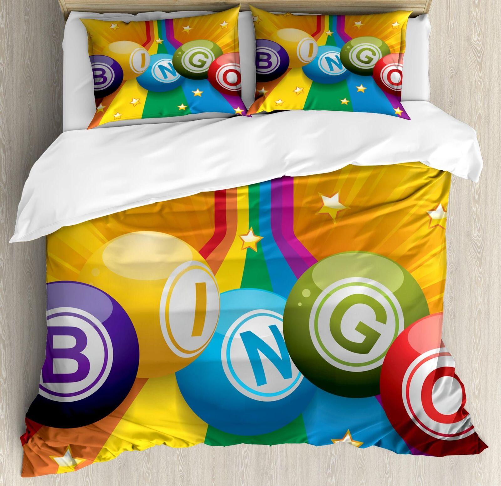 Bingo Duvet Cover Set Twin Queen King Größes with Pillow Shams