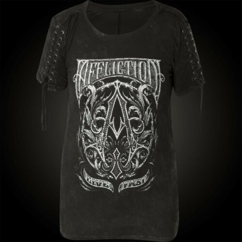 Affliction Donna T-shirt a frame NERO