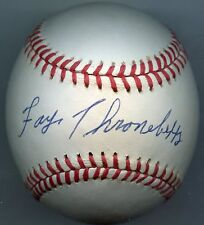 FAYE THRONEBERRY Signed Baseball 1961 Angels 1959 Senatros Red Sox  KOA Authenti