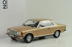 1980-Mercedes-Benz-280-CE-C-123-Coupe-metallique-or-1-18-Norev