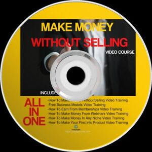 How To Make Money Without Selling Video Training Course On A Dvd Ebay