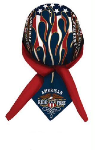 American Ride Free Bandanna Biker Doo Do Rag Head wrap Skull cap Capsmith Du Rag