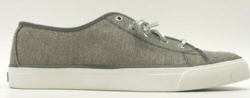 New Sperry Top Sider Womens Crest Vibe Canvas Gray Metallic Slip On Shoes US 9