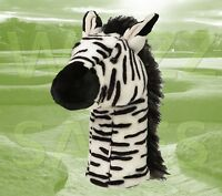 Zebra By Daphne's Large Novelty Golf Club Driver 1 Wood Headcover 460cc Head