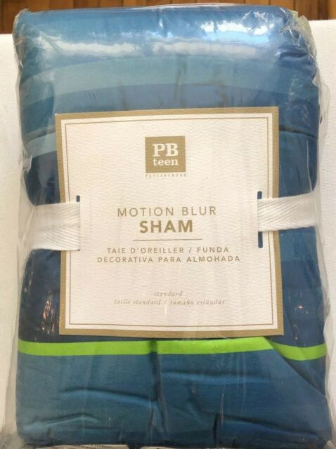 Pottery Barn Teen Motion Blur Sham Standard Blue Ebay