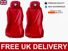 BMW ALPINA CAR SEAT COVERS PROTECTORS X2 100% WATERPROOF / HEAVY DUTY / RED