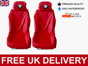 RED BMW 1 SERIES CAR SEAT COVERS PROTECTORS X2 100/% WATERPROOF HEAVY DUTY