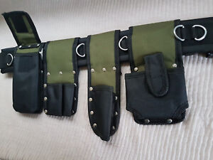 Scaffolding-Nylon-Tools-Belt-5IN1-Pockets-Pouch-Spanners-Tape-Level-Holder