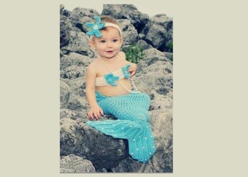 Baby Kinder Häkeln Strick Stirnband Top Schlafsack Kleid Kostüm Foto-Shooting