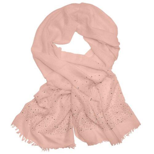 Halstuch mit Strass Strasssteine rosa weiß schwarz Schal