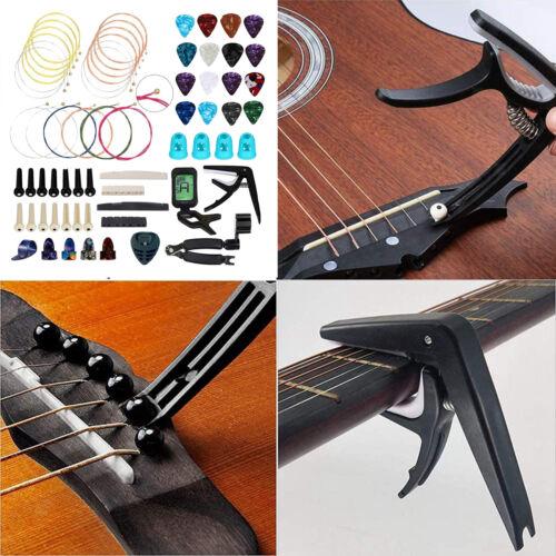 66pcs gitarren werkzeuge set einschl ießlich gitarren picks capo tuner gitarren