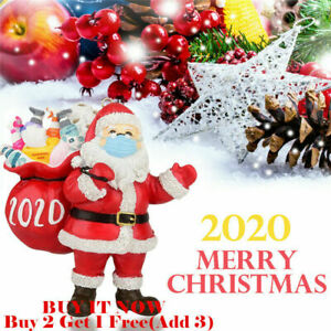 Christmas Tree Ornaments Santa Wear Mask Hanging Decor Creative Party Home Cute