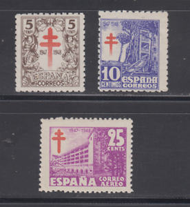 SPAIN-1947-MNH-COMPLETE-SET-SC-SCOTT-RA-23-24-RAC-8-TUBERCULOSIS-LOT-1