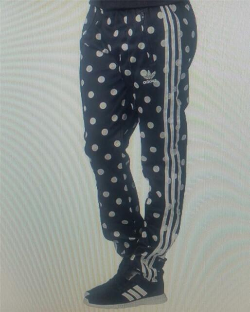 17268cf04 Womens adidas Originals Supergirl Tracksuit Bottoms Track Pant UK Size 14.  About this product. Adidas womens slim super girl polka dot track pant new  ab2249 ...