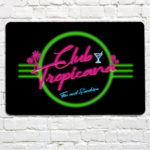 Club Tropicana 80/'s retro Fun /& Sunshine Cocktail Bar Metal Wall A4 Bar Sign
