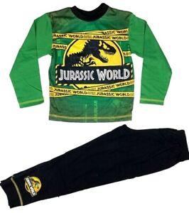 Official Boys Jurassic World Pyjamas Pajamas Pjs Kids Toddler Children 5 6 8 10