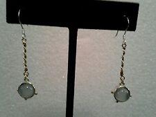 14 kt gold & sterling silver calcedony Earrings