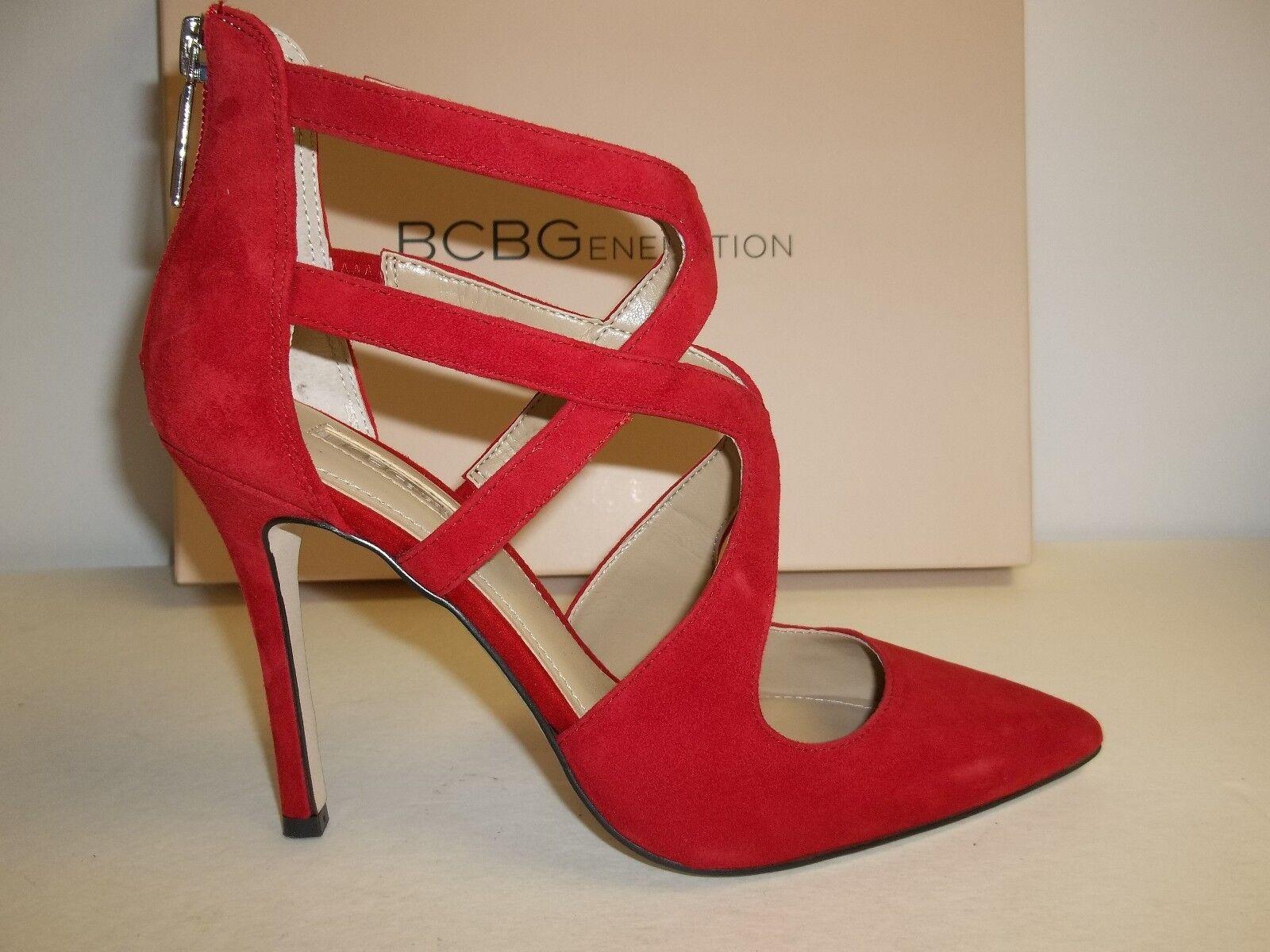 BCBG BCBGeneration Size 5.5 M Torpido Red Suede Pumps Donna Heels New Donna Pumps Shoes b3fc46