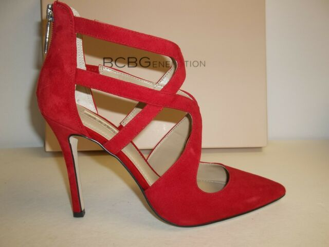 40116301f36 BCBG BCBGeneration Size 5.5 M Torpido Red Suede Pumps Heels New Womens Shoes