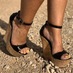 STYLISH-Women-Sandals-Platform-Wedges-Sandals-Black-Shoes-Woman-Big-Size-4-15
