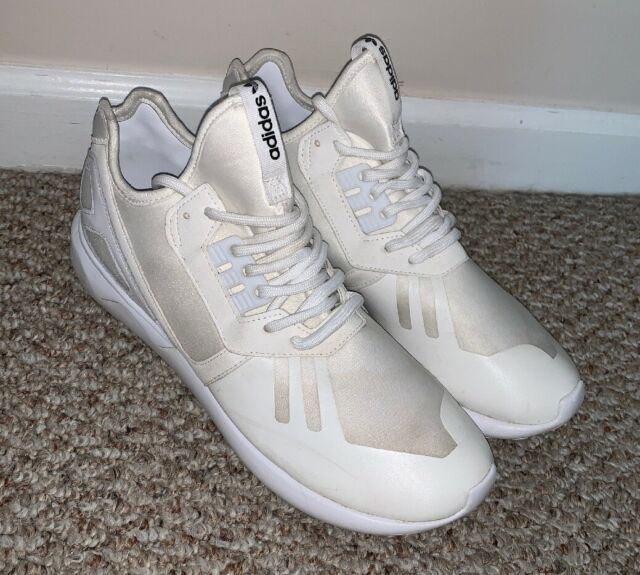 new product a7f93 b62c3 ADIDAS ORIGINAL MENS TUBULAR RUNNER TRIPLE WHITE SNEAKERS SHOES SIZE 10  S83141