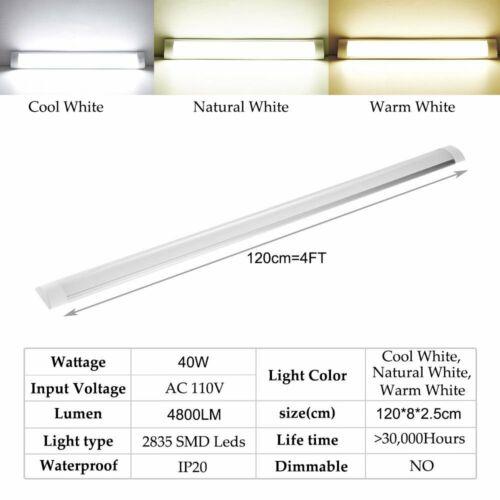 LED 30//60//90//120cm Leuchtstoffröhre Deckenleuchte Büroleuchte ULTRASLIM 25mm