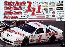 NASCAR DECAL # 1 BABY RUTH 1992 BGN FORD THUNDERBIRD JEFF GORDON 1/24 Scale