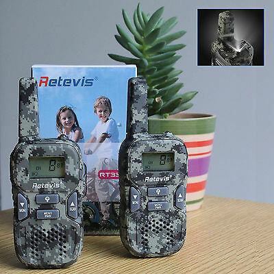 Retevis RT33 Camouflage KidsWalkie-Talkie UHF22CH 0.5W GMRS/FRS VOX CTCSS/DCS US