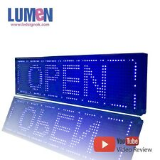 """8"""" X 27"""" Blue Indoor Programmable LED Scrolling Sign Message Board Display P10"""