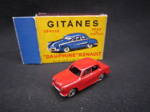 Q950 GITANES CIJ MICRO-MINIATURE RENAULT DAUPHINE red neuf boite