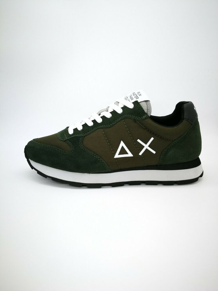 Chaussures Sun68 Homme Z29101 1911 Military Noir Vert Tom Solid Nylo Neuf