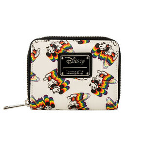 Loungefly-Disney-Mickey-Mouse-Rainbow-Small-Zip-Around-Wallet-NEW