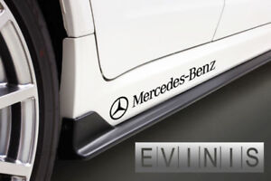 Mercedes-Benz-2x-Side-Skirt-Stickers-Car-Decals-DEFAULT-BLACK-left-and-right