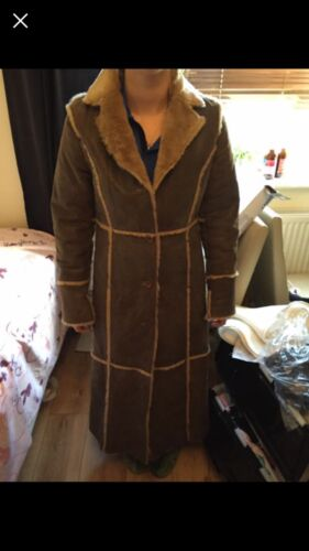 Coat Long Leather Size 12 Patch 6Z0n7wqR