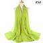 Fashion-Women-Plain-Chiffon-Scarf-Hijab-Islamic-Muslim-Hijab-Lady-Wrap-Shawls thumbnail 61