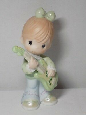 Precious Moments Figure Rock Band Girl Guitarist Friends Let You Be You 116612