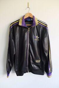 Details about Rare Trefoil Adidas Chile '62 tracksuit Jacket | Black purple gold M Wet look