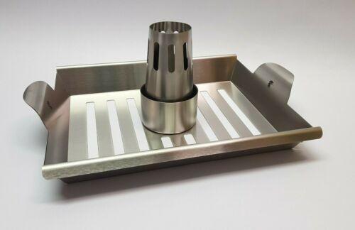 Flash ® 57610 griglia barbecue per pollamepollame supporto in acciaio inox