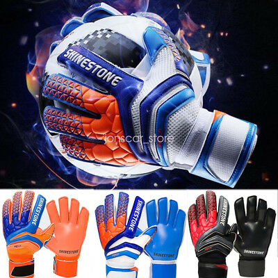 Competition Training Soccer Goalkeeper Gloves Thick Latex Fingertips Adult Kids