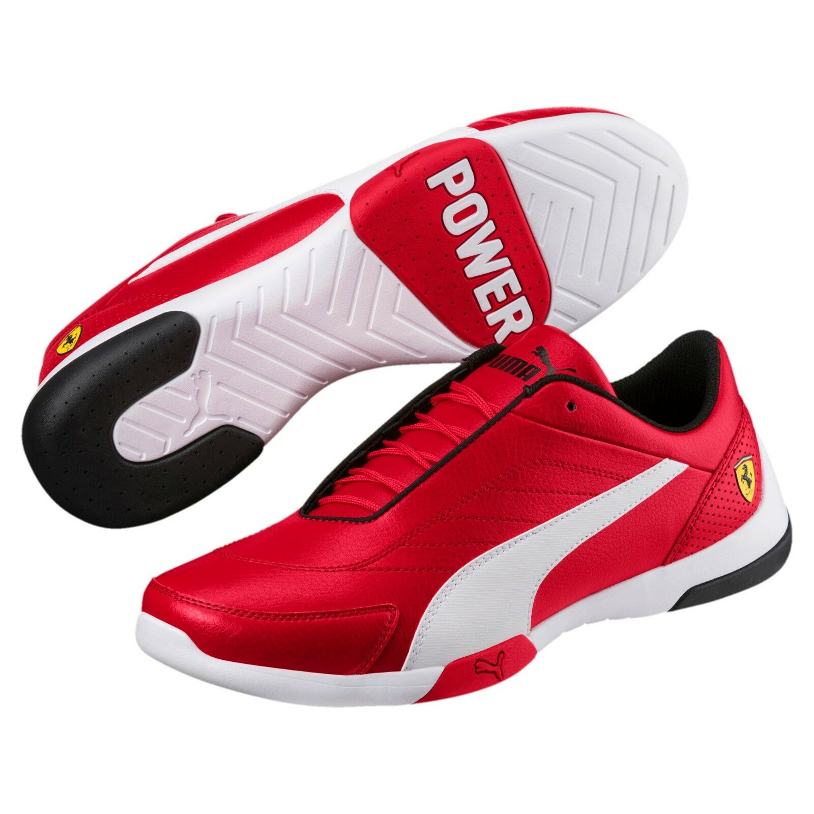 New mens puma ferrari kart cat III sneakers shoes red corsa red 306219-01