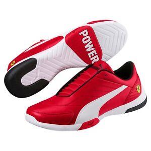 new mens puma ferrari kart cat III sneakers shoes rosso corsa red 306219-01