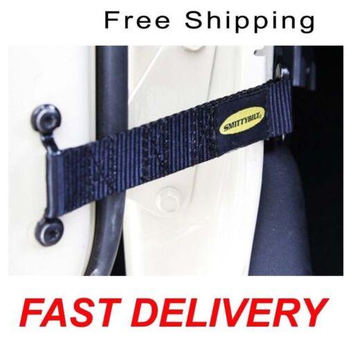 Smittybilt 769401 Black Adjustable Door Strap Fits Jeep Wrangler