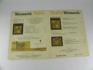 Vintage Original Bismark German Restaurant Menu Dayton Ohio
