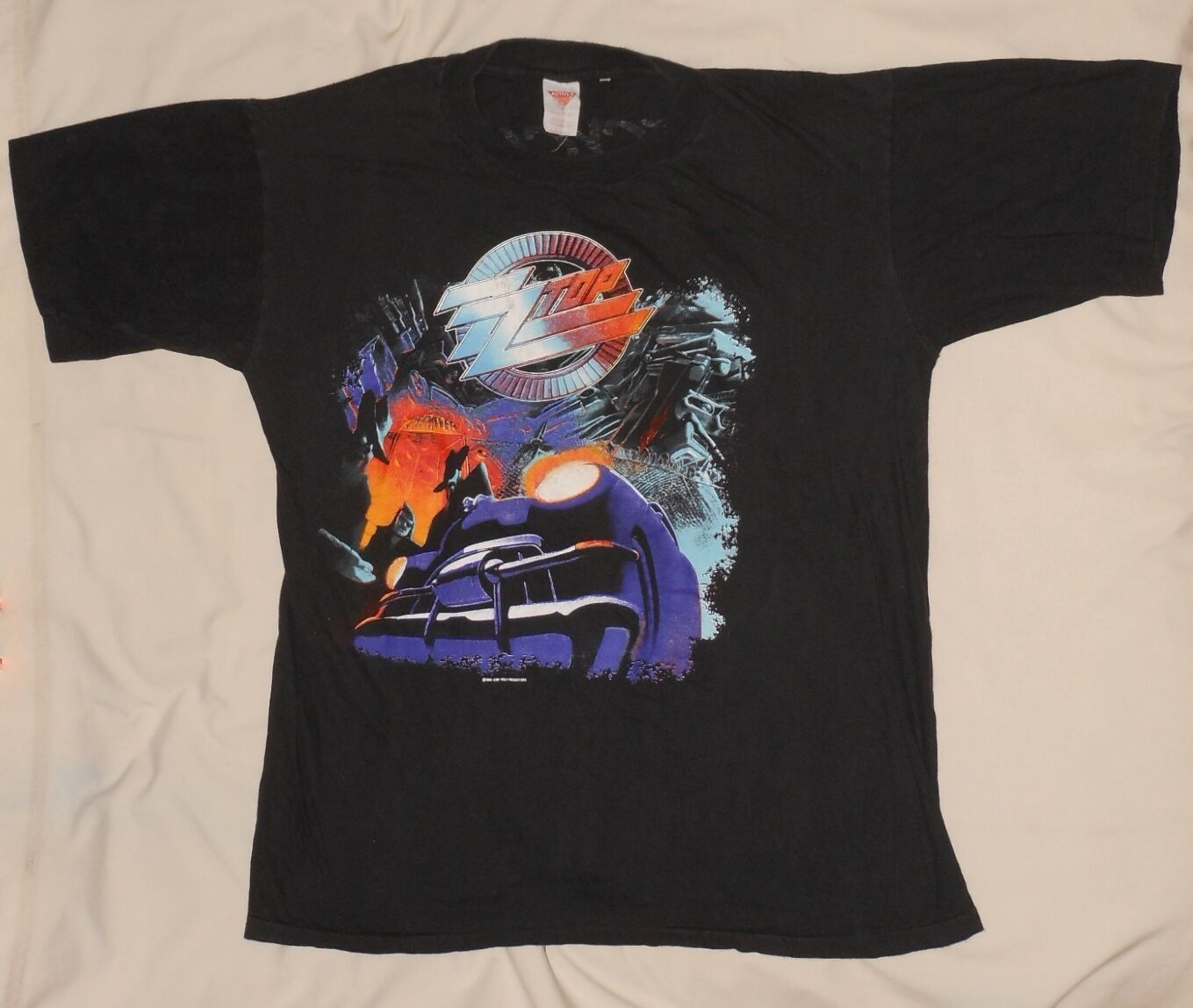 Vtg 90s ZZ TOP Recycler World Tour 1991 Concert T-shirt XL