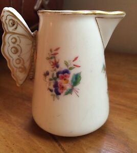 JOLI POT À LAIT ANSE PAPILLON PORCELAINE PARIS SMALL MILK JUG H.RIVERAIN 19th ev1Ma21N-09085538-707112812
