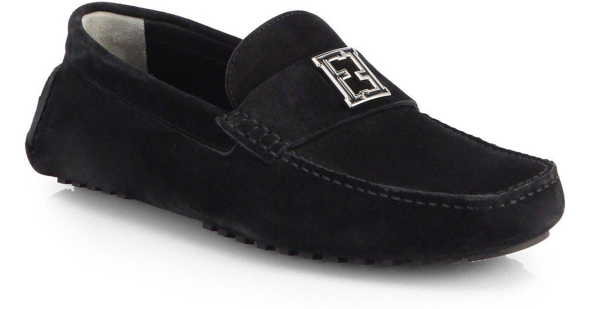 Scarpe casual da uomo  100%authentic Fendi Suede 'mocassino Crosta' Driving Loafers size 8.5UK / 9.5US